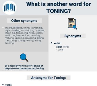 Toning, synonym Toning, another word for Toning, words like Toning, thesaurus Toning