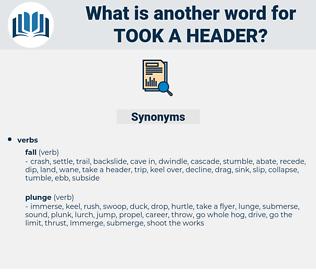 took a header, synonym took a header, another word for took a header, words like took a header, thesaurus took a header