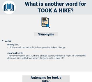 took a hike, synonym took a hike, another word for took a hike, words like took a hike, thesaurus took a hike