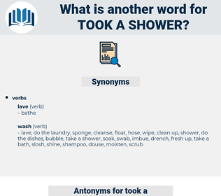 took a shower, synonym took a shower, another word for took a shower, words like took a shower, thesaurus took a shower