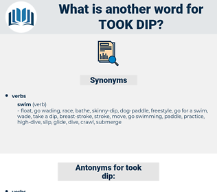 took dip, synonym took dip, another word for took dip, words like took dip, thesaurus took dip