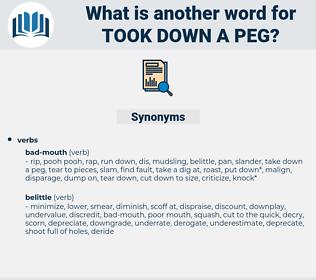 took down a peg, synonym took down a peg, another word for took down a peg, words like took down a peg, thesaurus took down a peg