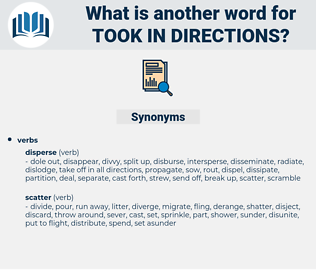 took in directions, synonym took in directions, another word for took in directions, words like took in directions, thesaurus took in directions