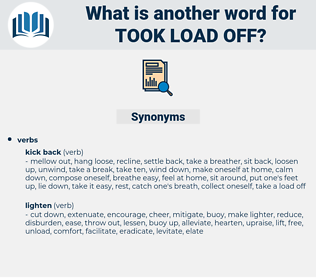 took load off, synonym took load off, another word for took load off, words like took load off, thesaurus took load off
