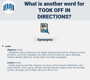 took off in directions, synonym took off in directions, another word for took off in directions, words like took off in directions, thesaurus took off in directions
