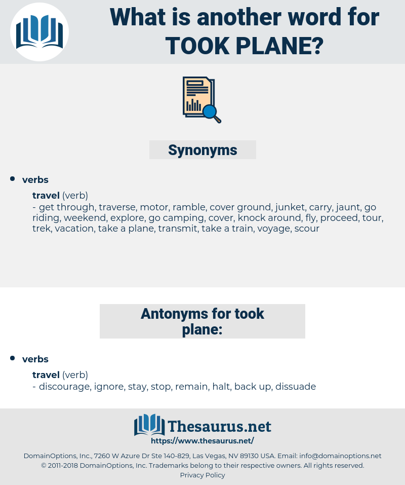 took plane, synonym took plane, another word for took plane, words like took plane, thesaurus took plane