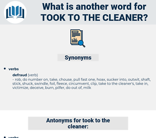 took to the cleaner, synonym took to the cleaner, another word for took to the cleaner, words like took to the cleaner, thesaurus took to the cleaner