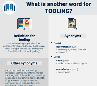 tooling, synonym tooling, another word for tooling, words like tooling, thesaurus tooling