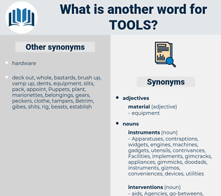 tools, synonym tools, another word for tools, words like tools, thesaurus tools