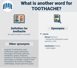 toothache, synonym toothache, another word for toothache, words like toothache, thesaurus toothache