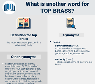 top brass, synonym top brass, another word for top brass, words like top brass, thesaurus top brass