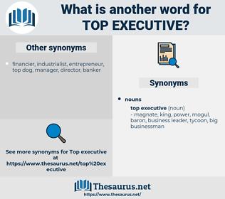 top executive, synonym top executive, another word for top executive, words like top executive, thesaurus top executive