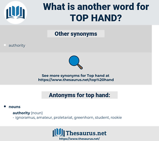 top hand, synonym top hand, another word for top hand, words like top hand, thesaurus top hand