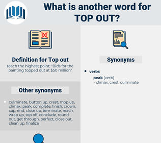 Top out, synonym Top out, another word for Top out, words like Top out, thesaurus Top out