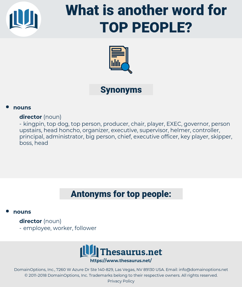 top people, synonym top people, another word for top people, words like top people, thesaurus top people