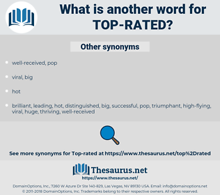 top-rated, synonym top-rated, another word for top-rated, words like top-rated, thesaurus top-rated