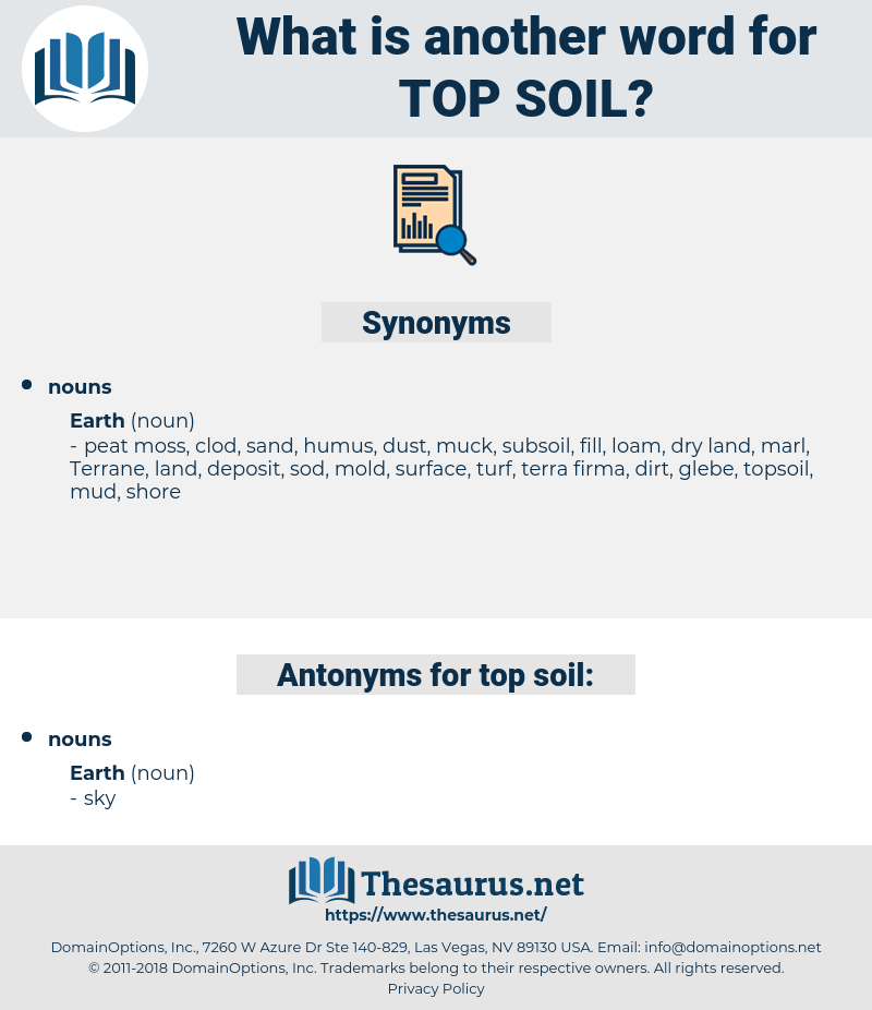 top-soil, synonym top-soil, another word for top-soil, words like top-soil, thesaurus top-soil