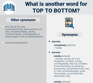 top to bottom, synonym top to bottom, another word for top to bottom, words like top to bottom, thesaurus top to bottom