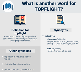 topflight, synonym topflight, another word for topflight, words like topflight, thesaurus topflight