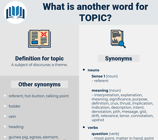 topic, synonym topic, another word for topic, words like topic, thesaurus topic
