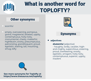 toplofty, synonym toplofty, another word for toplofty, words like toplofty, thesaurus toplofty