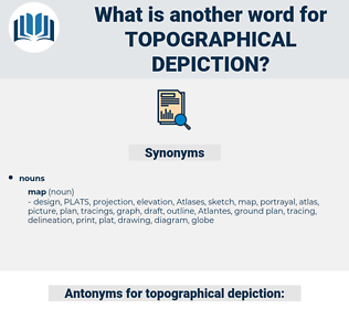 topographical depiction, synonym topographical depiction, another word for topographical depiction, words like topographical depiction, thesaurus topographical depiction