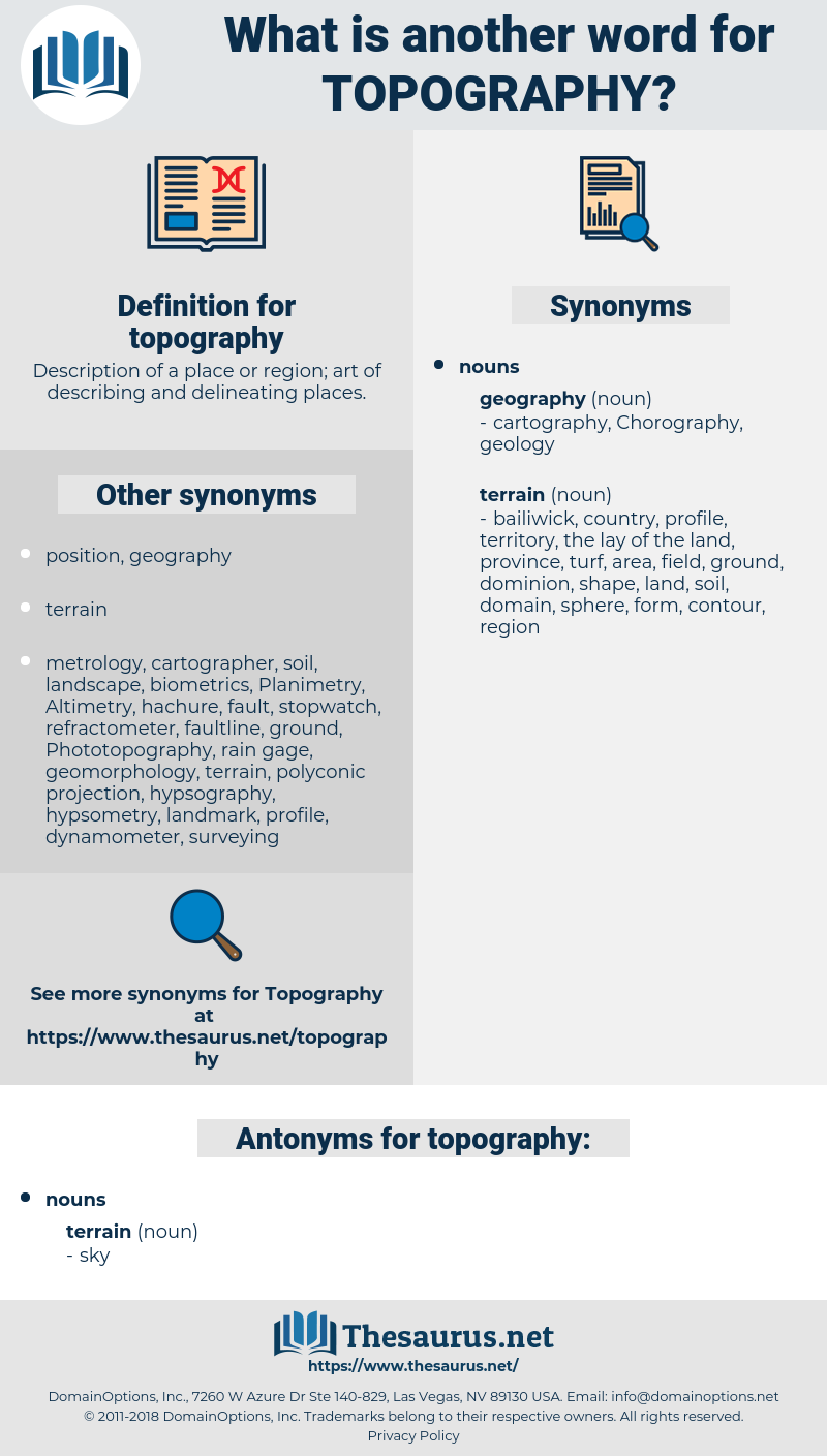 topography, synonym topography, another word for topography, words like topography, thesaurus topography