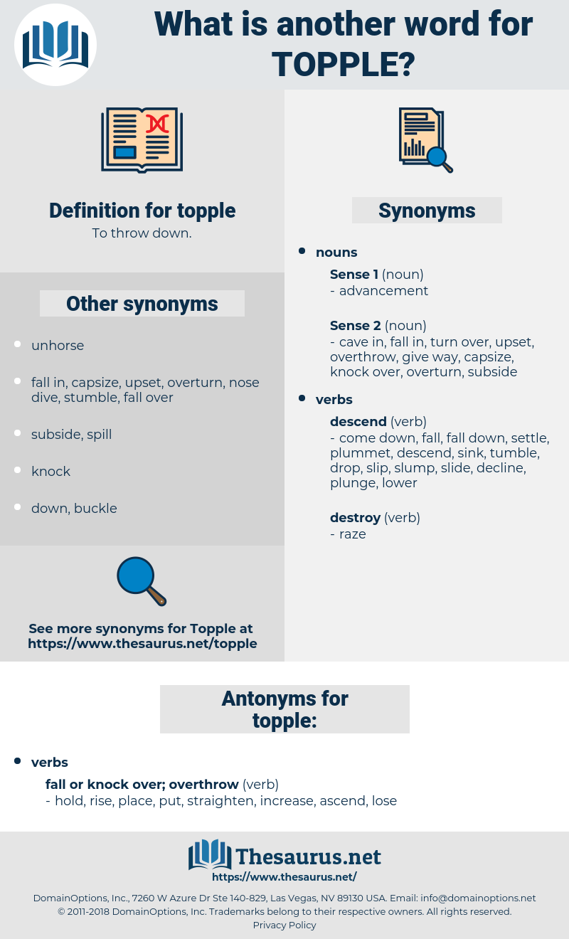 topple, synonym topple, another word for topple, words like topple, thesaurus topple