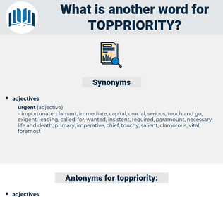 toppriority, synonym toppriority, another word for toppriority, words like toppriority, thesaurus toppriority