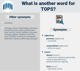 tops, synonym tops, another word for tops, words like tops, thesaurus tops