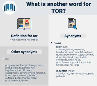 tor, synonym tor, another word for tor, words like tor, thesaurus tor