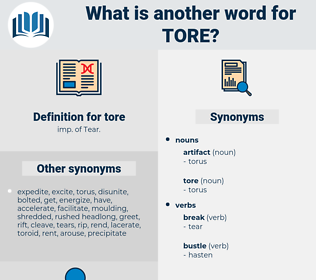 tore, synonym tore, another word for tore, words like tore, thesaurus tore