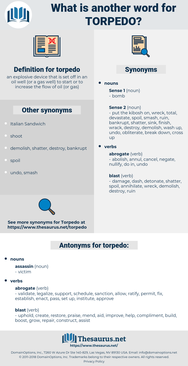 torpedo, synonym torpedo, another word for torpedo, words like torpedo, thesaurus torpedo