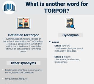 torpor, synonym torpor, another word for torpor, words like torpor, thesaurus torpor