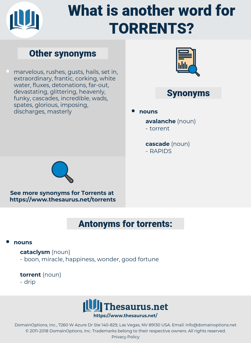 torrents, synonym torrents, another word for torrents, words like torrents, thesaurus torrents