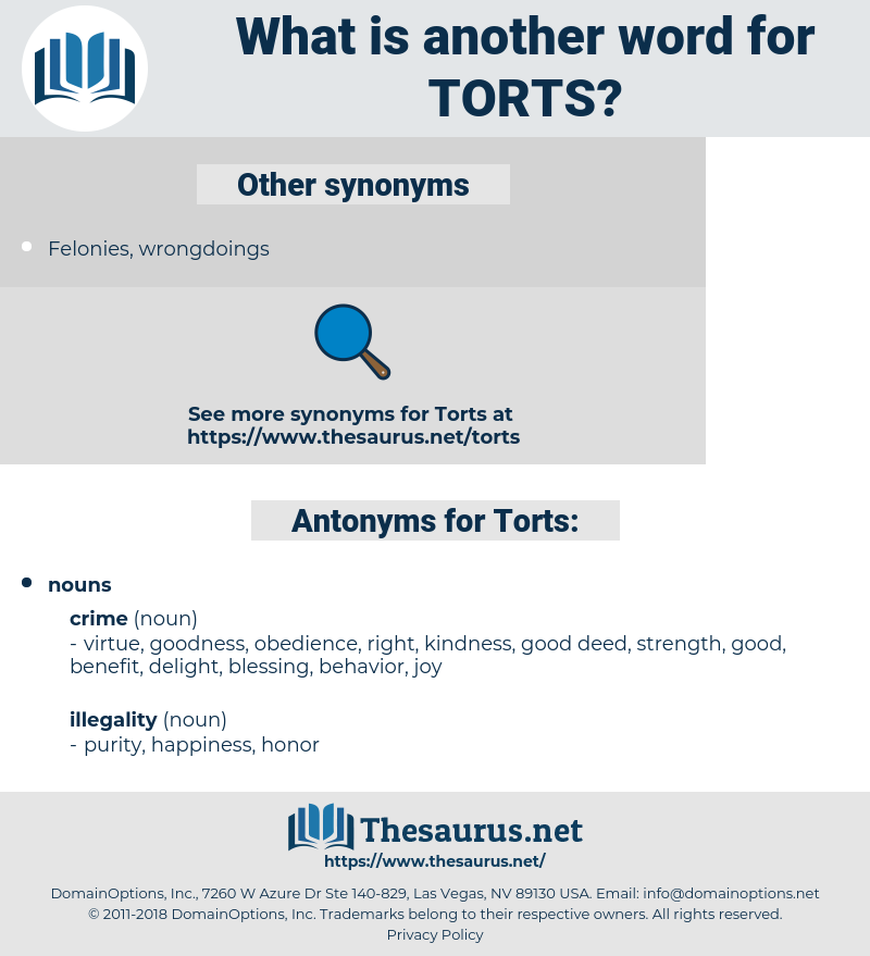 Torts, synonym Torts, another word for Torts, words like Torts, thesaurus Torts