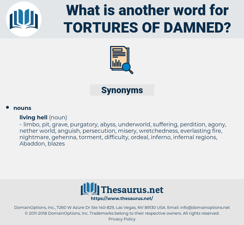 tortures of damned, synonym tortures of damned, another word for tortures of damned, words like tortures of damned, thesaurus tortures of damned