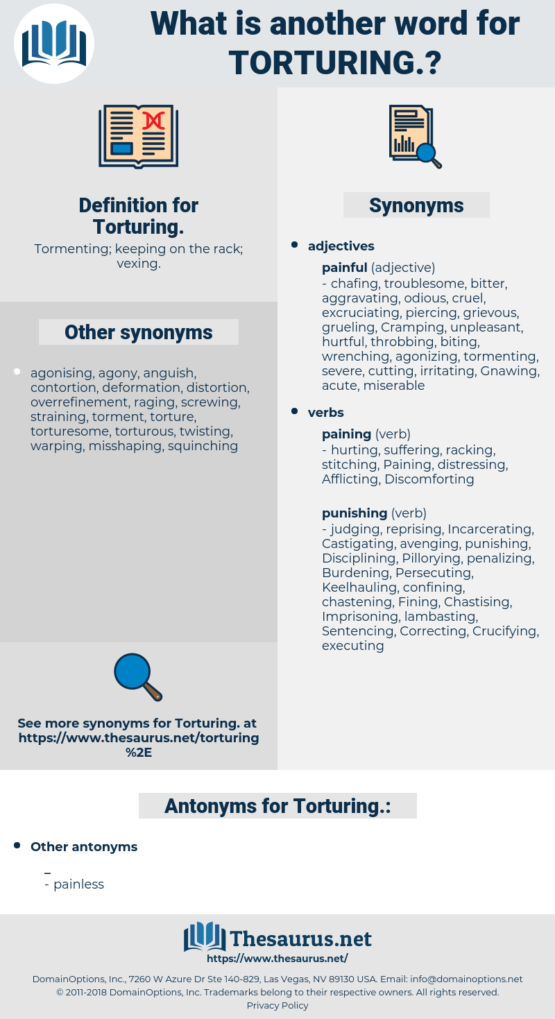 torturing, synonym torturing, another word for torturing, words like torturing, thesaurus torturing