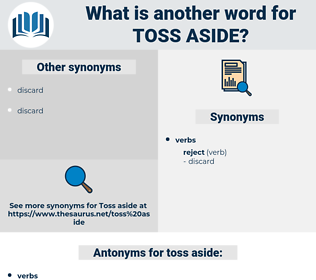 toss aside, synonym toss aside, another word for toss aside, words like toss aside, thesaurus toss aside