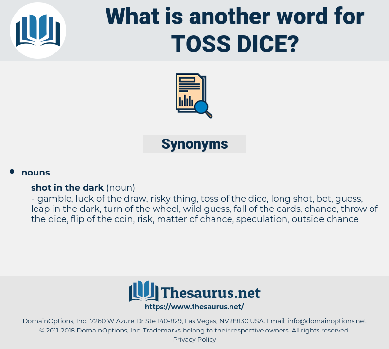 toss dice, synonym toss dice, another word for toss dice, words like toss dice, thesaurus toss dice