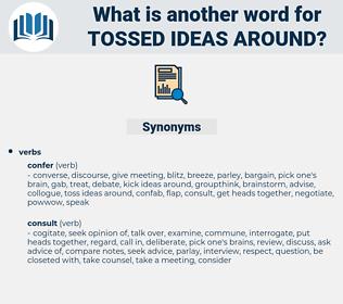 tossed ideas around, synonym tossed ideas around, another word for tossed ideas around, words like tossed ideas around, thesaurus tossed ideas around