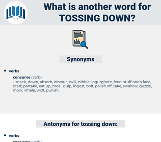 tossing down, synonym tossing down, another word for tossing down, words like tossing down, thesaurus tossing down