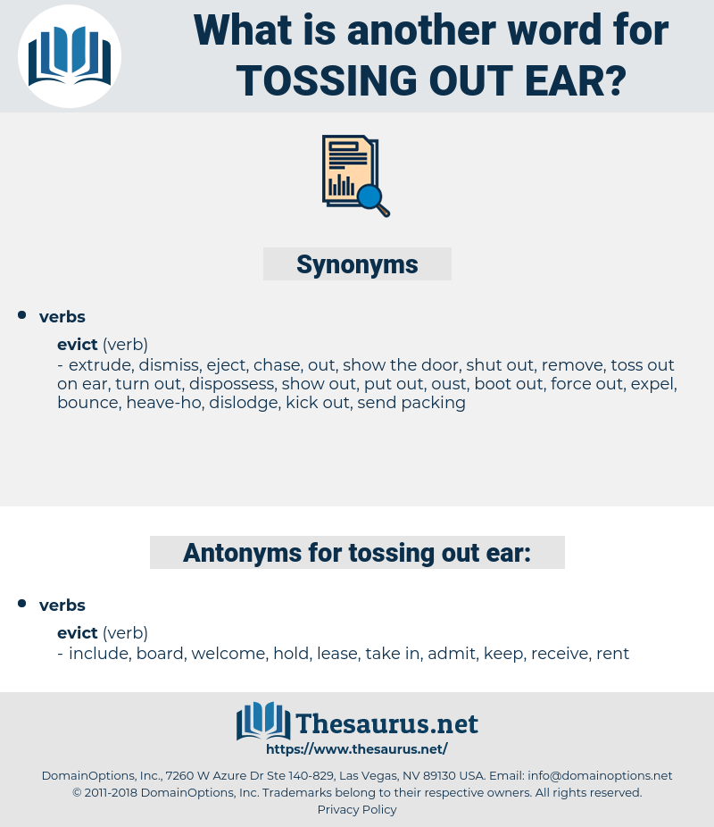 tossing out ear, synonym tossing out ear, another word for tossing out ear, words like tossing out ear, thesaurus tossing out ear
