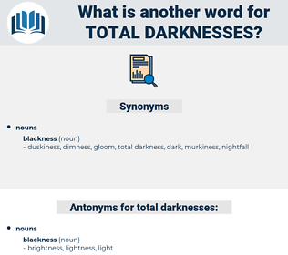 total darknesses, synonym total darknesses, another word for total darknesses, words like total darknesses, thesaurus total darknesses
