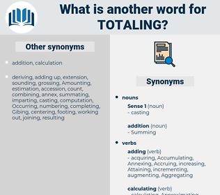 Totaling, synonym Totaling, another word for Totaling, words like Totaling, thesaurus Totaling