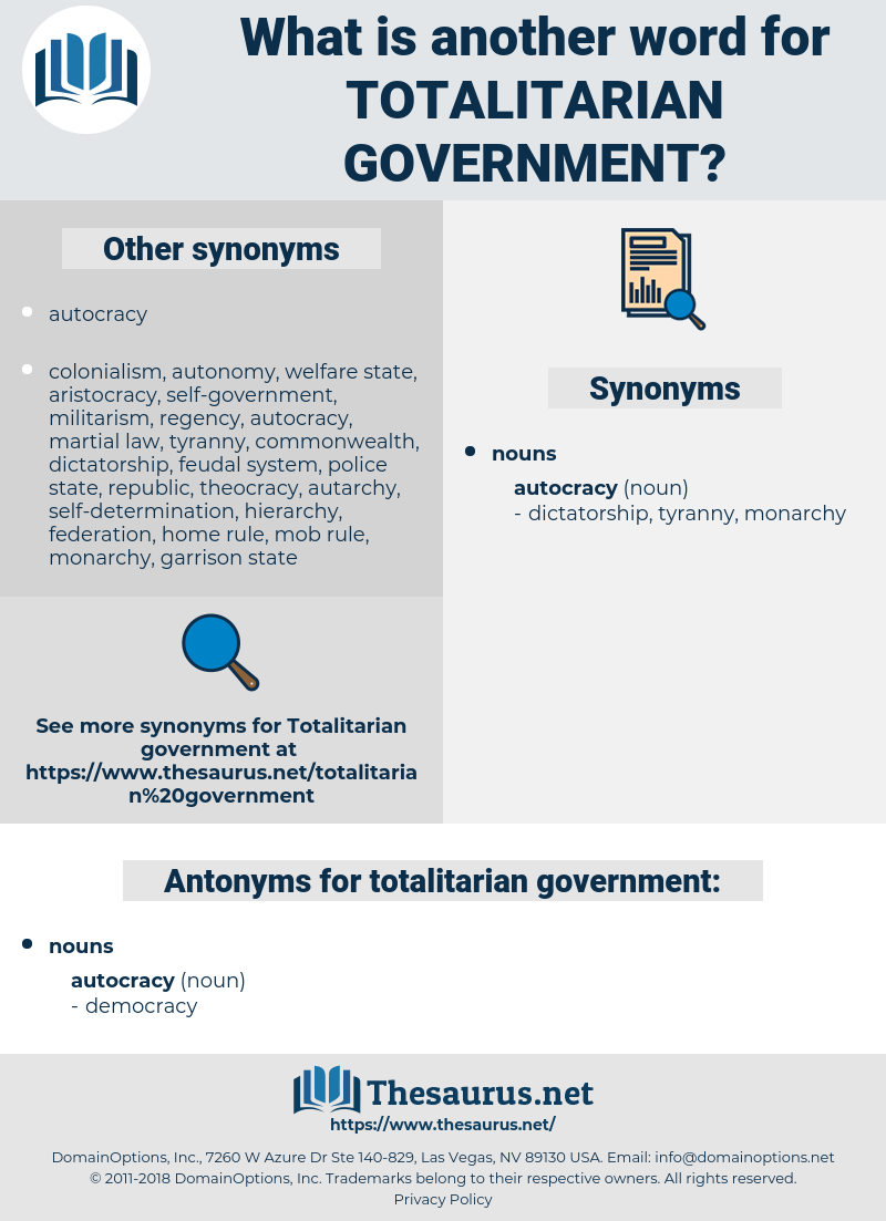 totalitarian government, synonym totalitarian government, another word for totalitarian government, words like totalitarian government, thesaurus totalitarian government