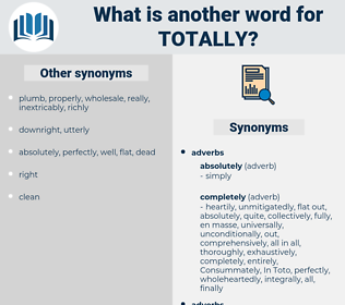 totally, synonym totally, another word for totally, words like totally, thesaurus totally