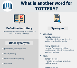 tottery, synonym tottery, another word for tottery, words like tottery, thesaurus tottery