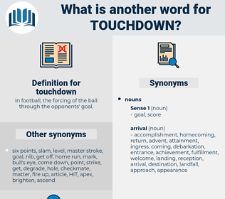 touchdown, synonym touchdown, another word for touchdown, words like touchdown, thesaurus touchdown