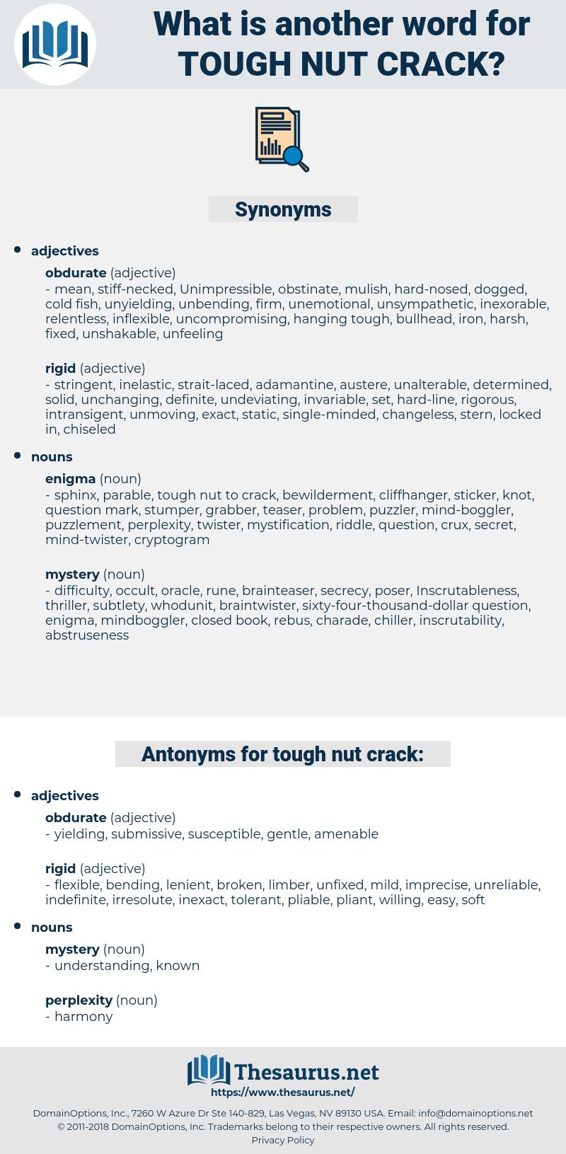 tough nut crack, synonym tough nut crack, another word for tough nut crack, words like tough nut crack, thesaurus tough nut crack